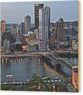 Pittsburgh Before Sunset Wood Print