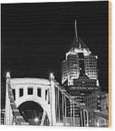 Pittsburgh Bridge Wood Print by Josh Ebel