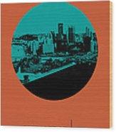 Pittsburgh Circle Poster 1 Wood Print