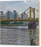 Pittsburgh Clemente Bridge Wood Print