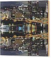 Pittsburgh Dusk Reflection 2 Wood Print