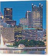 Pittsburgh New 2  Wood Print by Emmanuel Panagiotakis