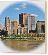 Pittsburgh Pa In The Spotlight Wood Print