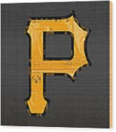 Pittsburgh Pirates Baseball Vintage Logo License Plate Art Wood Print