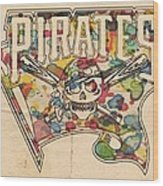 Pittsburgh Pirates Poster Art Wood Print