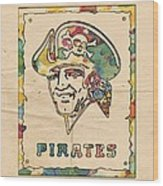 Pittsburgh Pirates Vintage Art Wood Print
