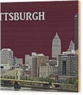 Pittsburgh Poster Wood Print