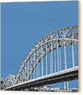 Pittsburgh Skyline 16th St. Bridge - Slate Wood Print