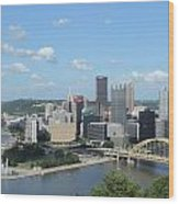 Pittsburgh Skyline From Mount Washington Wood Print