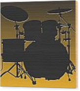 Pittsburgh Steelers Drum Set Wood Print