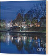 Pittsford On The Erie Canal Wood Print