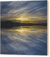 Pittwater Sunset Abstract Wood Print