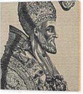 Pius Iv 1499-1565. Pope 1559-1565 Wood Print