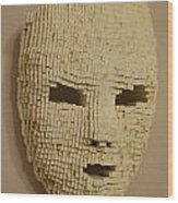 Pixelated Face Wood Print