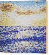 Pixelated Sunset Wood Print