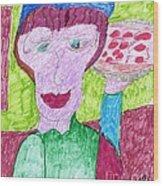 Pizza Anyone Wood Print by Elinor Rakowski