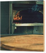 Pizza Oven Wood Print