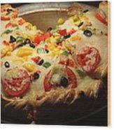 Pizza Pie - 5d20700 Wood Print