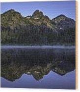 Pl Mountain Range Wood Print