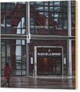 Place De La Defense Wood Print