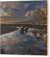 Place Of Refuge Sunset Reflection Wood Print
