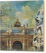 Place Stanislas Place De La Carriere And Place Dalliance In Nancy Wood Print