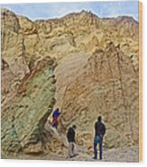 Places To Climb In Golden Canyon In Death Valley National Park-california Wood Print
