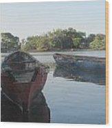 Placid Fishing Boats Wood Print