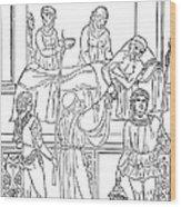 Plague, 1500 Wood Print