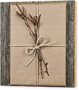 Plain Gift With Natural Decorations Wood Print