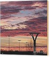 'plainfield Sunset II Wood Print