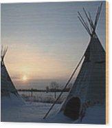 Plains Cree Tipi Wood Print