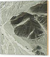 Plains Of Nazca - The Astronaut Wood Print