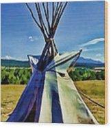 Plains Tribes Teepee Wood Print