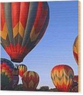 Plainville Hot Air Balloon Fesitval Wood Print