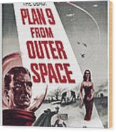 Plan 9 From Outer Space, Vampira, 1959 Wood Print