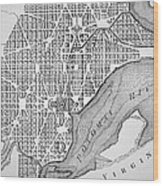Plan Of The City Of Washington As Originally Laid Out In 1793 Wood Print