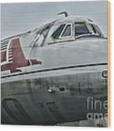 Plane Capital Airlines Wood Print