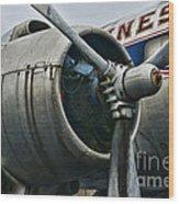 Plane Check Your Engine Wood Print