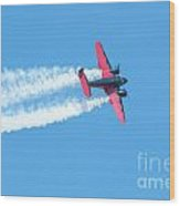 Plane In Air  Wood Print