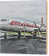Plane Props On Capital Airlines Wood Print
