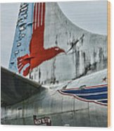 Plane Tail Wing Eastern Air Lines Wood Print