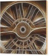 Plane Wooden Prop Wood Print by Paul Ward
