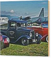 Planes And Cars Wood Print
