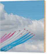 Planes Fly In Airshow Wood Print