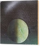 Planet Au Vert Wood Print