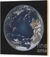 Planet Earth 600 Million Years Ago Wood Print