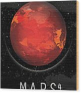 Planet Mars Wood Print