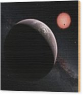 Planets In Trappist-1 System Wood Print
