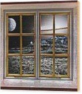 Planetscape Wood Print